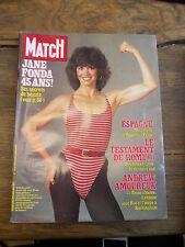Paris Match n°1746 12 novembre 1982 Jane Fonda 45 ans! Ses secrets de beauté