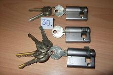 #30# 3 Stück 1/2 Zylinder Zeiss Ikon mit 9 Schlüssel, (alle 35/10), gleichschlie