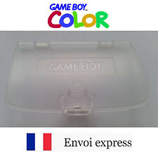Cache pile transparent crystal Game Boy Color neuf [Battery cover Gameboy GBC]