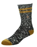 New Orleans Saints NFL For Bare Feet Men's Alpine Soft Crew Socks-SZ LARGE