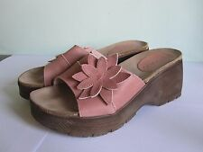 Dolcis - Wedge- Sandals - Pink Suede - Pretty Flower Detail