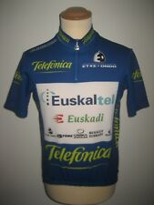 Euskaltel Euskadi RIDER WORN Spain shirt cycling maillot camiseta jersey size L
