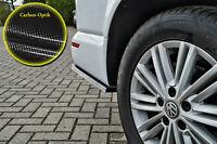 Heckansatz  Spoilerecken Seitenteile ABS für VW Bus T5 T6 Multivan Carbon Optik