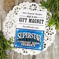 DecoWords Fridge Magnet Elementary School GRADUATE MAGNET Graduation Gift New