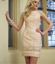 Jovani Lattice Beaded Cocktail Dress Size 4