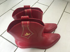 Red Vivienne Westwood Wellies Cowboy Boots - Size 6 (EUR 39)