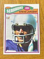 Vintage 1977 Topps #177 STEVE LARGENT RC Seattle Seahawk Tulsa NFL HOF RARE NM/M