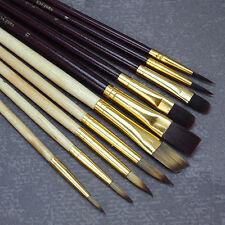 10 teiliges Acryl Öl Pinselset Pinsel Profi-Qualität Künstlerbedarf