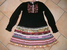 (322) Nolita Pocket Girls Materialmix Kleid mit Seide und Perlmuttknöpfen gr.128
