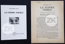 SALVADOR DALI La FEMME VISIBLE Man RAY André BRETON Paul ELUARD Surréalisme 1930