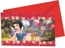 Snow White 6 INVITATIONS with Envelopes - Birthday Party Invites Disney Princess