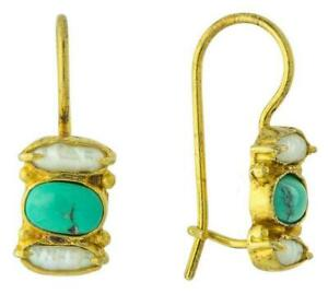 Dover Pearl With Turquoise Earrings: Museum of Jewelry