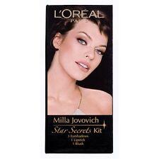 L'oreal Star Secrets Makeup Kit - Milla Jovovich - 3 Eye shadows Blush Lipstick