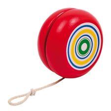 Yo-Yo, Yoyo, Jo-Jo, Jojo in legno, colore rosso, vintage, cm 5,6, corda cm 74