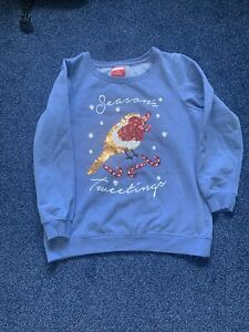 WOMANS CHRISTMAS JUMPER SIZE 14
