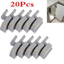 20Pcs LED Sensor Hinge Lights for Home Kitchen Cabinet Cupboard Closet Wardrobe