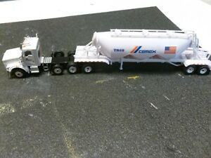 CEMEX HO SCALE PNEUMATIC DRY GOODS TRAILER AND TRACTOR