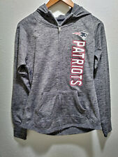 4Her by Carl Banks New England Patriots Women's Gray Defender Jacket Sz Small