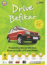 Maruti Suzuki 800 Duo car (made in India) _2008 Prospekt / Brochure