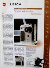 LEICA special Noël 1999 - Leica Digilux Zoom - Minox  - E LEITZ - Doc commercial