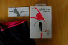 XL LADIES SKINS RUNNING TIGHTS, A200 COMPRESSION, BLACK & PINK BRAND NEW IN BOX
