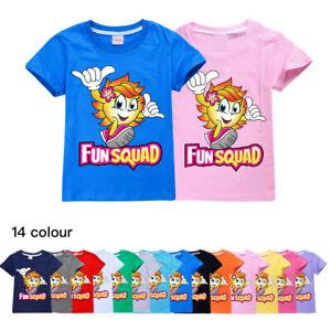 Fun Squad Gaming Kids T-Shirt Youtuber Short Sleeve Top Boys Girls Novelty Tee