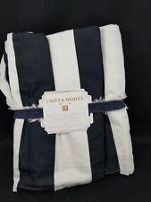 Pottery Barn Teen Emily Meritt Circus Stripe Bedskirt Queen #3701