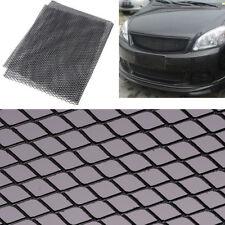 Black Aluminum Car Vehicle Body Rhombic Grille Mesh Section Grill Net 100×33cm