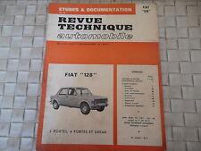 REVUE TECHNIQUE FIAT 128 BERLINE BREAK COACH (2 et 4 portes et break)