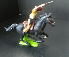 Vintage BRITAINS deetail mounted Mexican cowboy with rifle and pistol (673)