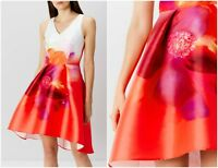 ex Coast Floral Party Races Wedding Prom Formal Cocktail Occasion Dress RRP£159