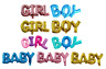 Baby Boy Girl Word Foil Balloon Baby Shower New Arrival Party Reveal Gender