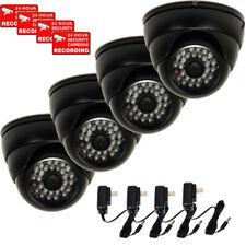 4 x Security Camera w/ SONY Effio CCD 700TVL Ootdoor Night Vision IR & Power mjo