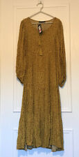 Marks And Spencer Maxi Dress M&S Collection Size L BNWT mustard yellow Peasant