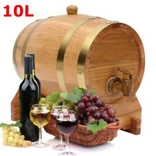 10L Vintage Wood Oak Timber Barrel Keg Wine Spirits Whisky Port French Toasted