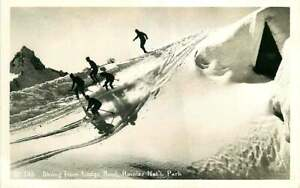 Real Photo Postcard Skiing from Lodge Rood, Rainier National Park, Washington