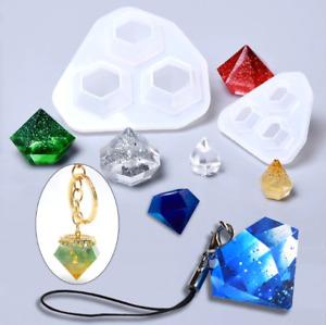 Jewelry Making Silicone Resin Mold Geometric Pendant Diamond Epoxy Craft Tool