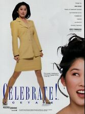 1995 KRISTI YAMAGUCHI for Celebrate Acetate  : Magazine  Print Ad *