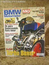 Mo Sonderheft BMW Motorräder Nr.9 R 1200 C MKM 1000 Turbo Boxer