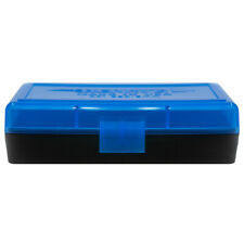 BERRY'S PLASTIC AMMO BOXES (10) BLUE/BLACK 50 Round 9MM / 380 - FREE SHIPPING
