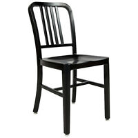 Aluminum 1940s 'Navy' Style Dining Chair Anodized Finish In/Outdoor Black 8 Lbs!