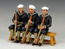 KING & COUNTRY USN013 Three Sitting Sailors Retired
