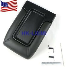Center Console Lid Kit Arm Rest for 99-07 Silverado Sierra 19127364 Dark Gray
