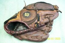 Vintage Wilson Youth Baseball Glove, Leather, 4 Finger, Right-Hand Throw