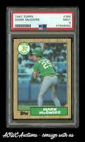 1987 Topps #366 - Mark McGwire RC (Oakland Athletics) - PSA MINT 9