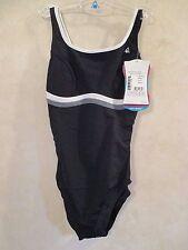 AQUA SPHERE INFINITY Size 32 6 Black Grey One Piece Swim Team Ski Surf Swimsuit