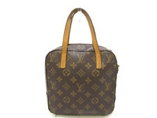 Auth LOUIS VUITTON Spontini M47500 Monogram Canvas AR1002 Handbag