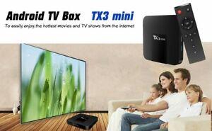 ANDROIDBOX SMART TV BOX TX3 MINI 4K FULL HD STREAMING MEDIA PLAYER
