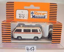 Roco Minitanks 1/87 No. 612 VW Volkswagen T3 Bus RAF Polis Militar OVP #417