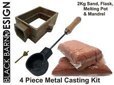 4 Piece Sand Casting/Delft Kit 2 Kg Sand, Melting Pot and Mandrel